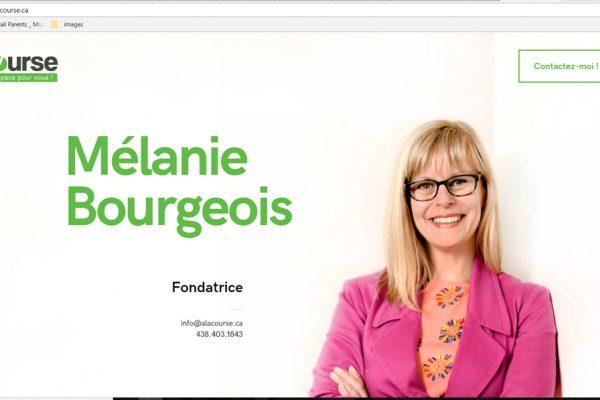 Àlacourse – Mélanie Bourgeois
